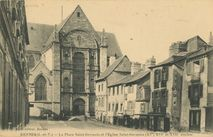 Cartolis Rennes (Ille-et-Vilaine) - La Place Saint-Germain et l'Eglise Saint-Germain ( ...